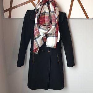 ZARA Black 75% wool coat size S